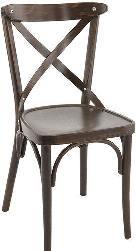 Chaise Sofia assise bois brun fonçé