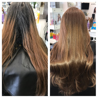Color Match - before  & after
