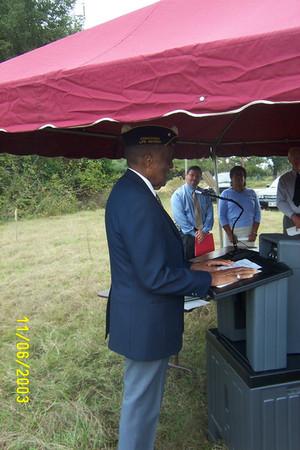 LePageville Cemetery Dedication Ceremony