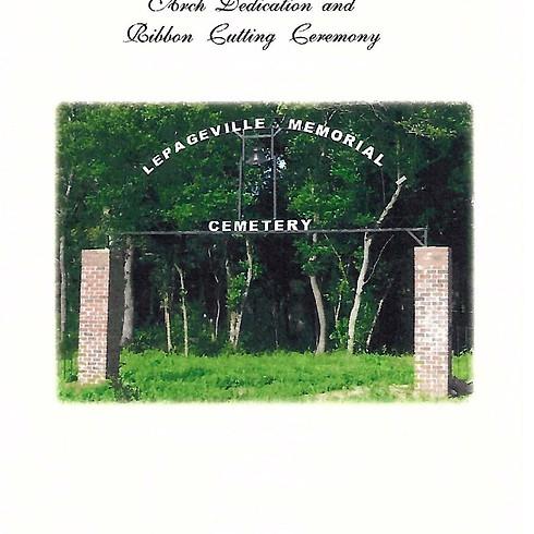 LePageville Memorial Cemetery Arch Dedication