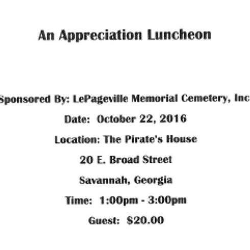 An Appreciation Luncheon