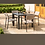 Thumbnail: Maze Lounge - Outdoor Fabric Bliss 4 Seat Square Dining Set - Taupe