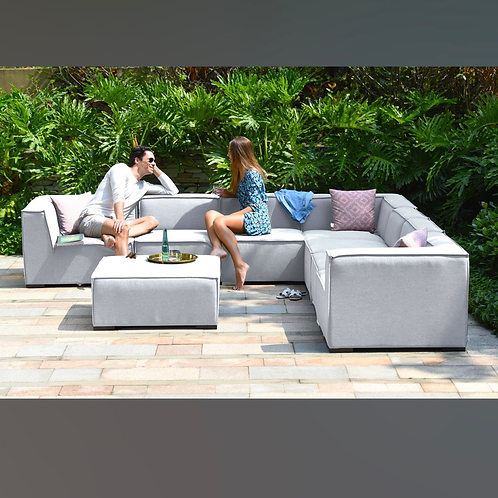 Maze Lounge - Outdoor Fabric Large Apollo Corner Sofa Group