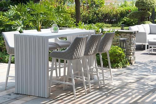 Maze Lounge - Outfoor Fabric Regal 6 Seat Rectangular Bar Set - 4 Colours