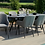 Thumbnail: Maze  - Outdoor Fabric Zest 8 Seat Oval Dining Set - Flanelle