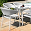 Thumbnail: Maze  - Outdoor Fabric Pebble 6 Seat Oval Dining Set - Lead Chine