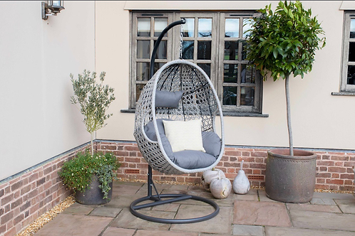 Maze  - Ascot Hanging Chair - With Weatherproof Cushions