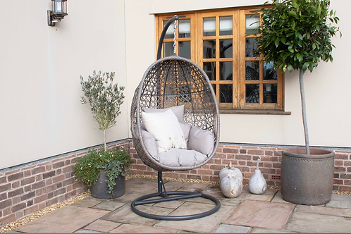 Maze  - Harrogate Hanging Chair - With Weatherproof Cushions