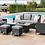 Thumbnail: Maze Rattan - Venice Sofa Dining Set - with Ice Bucket & Rising Table - Grey