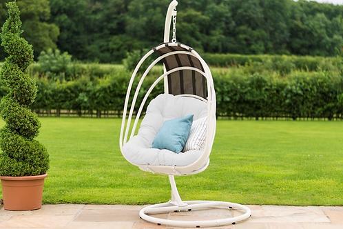 Maze  - Amalfi Metal Hanging Chair - White
