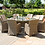 Thumbnail: Maze  - Winchester - Venice 8 Seat Round Fire pit Dining Set - With Lazy S