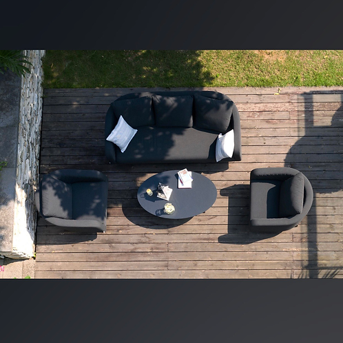 Maze Lounge - Outdoor Fabric Ambition 3 Seat Sofa Set