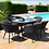 Thumbnail: Maze  - Outdoor Fabric Ambition 6 Seat Oval Dining Set - Charcoal