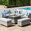 Thumbnail: Maze Rattan - Oxford Royal Corner Dining Sofa Set PRE ORDER