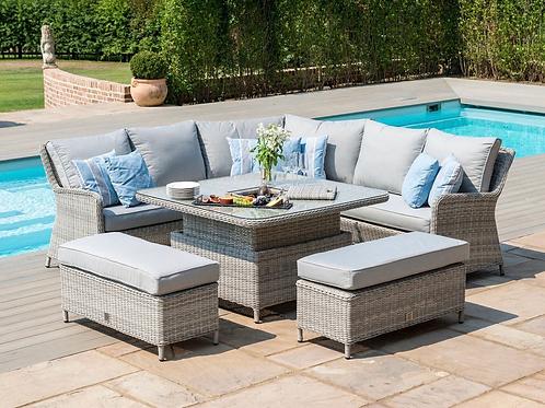 Maze Rattan - Oxford Royal Corner Dining Sofa Set PRE ORDER