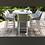Thumbnail: Maze Lounge - Outdoor Fabric Regal 8 Seat Rectangular Bar Set - Fire Pit table