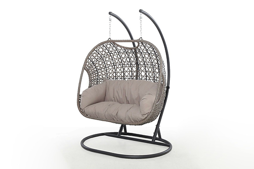 Maze  - Harrogate Double Hanging Chair - With Weatherproof Cushions