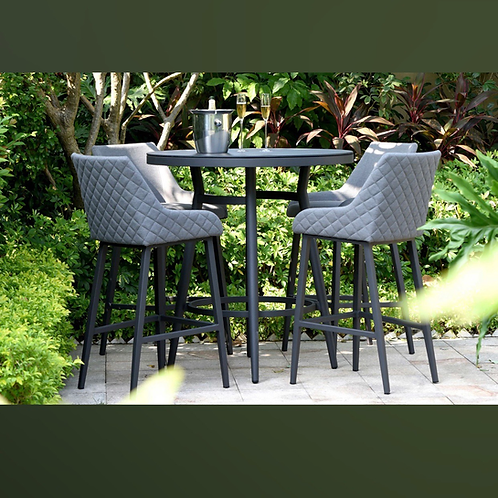 Maze Lounge - Outdoor Fabric Regal 4 Seat Round Bar Set - 4 Colours