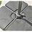 Thumbnail: 3m Square Royce Executive Cantilever Parasol & 100kg Base