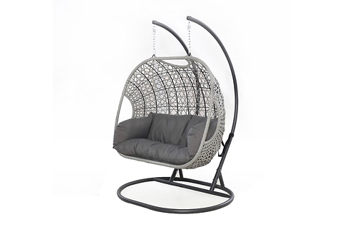 Maze  - Ascot Double Hanging Chair - With Weatherproof Cushions