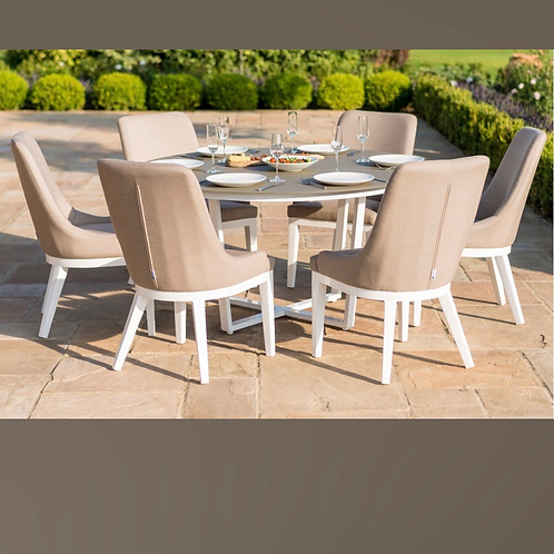 Maze Lounge - Outdoor Fabric Pacific 4 & 6 Seat Round Dining Set