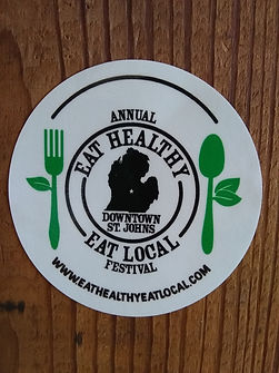 EAT HEALTHY EAT LOCAL FESTIVAL DECAL LOG