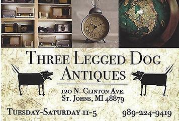 Three Legged Dog Antiques St Johns Mi