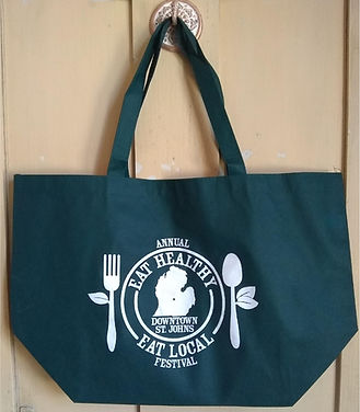EAT HEALTHY EAT LOCAL FESTIVAL TOTE BAG