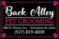 BACK ALLEY PET GROOMING ST JOHNS MI