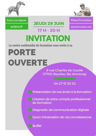 2ème journée porte ouverte du Centre de Formation Platon & Eclere à Boulieu-les-Annonay en Ardèc