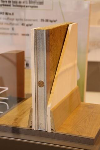 Mise en place fibre de bois - en cloison