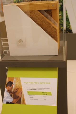 Mise en place fibre de bois - sur les murs