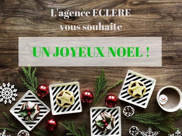 Joyeux Noel Souhaite.Eclere Vous Souhaite Un Joyeux Noel Communication Digitale