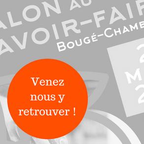 Nous exposons au salon du Savoir-Faire de Bougé-Chambalud !