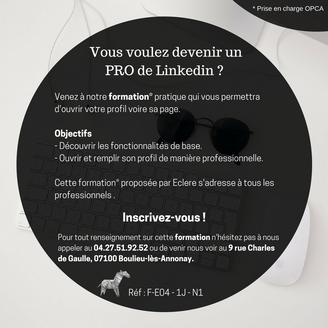Formation Linkedin pour les Pro !