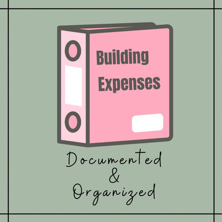 How we track our build expenses