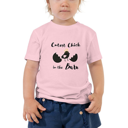 Cutest Chick In The Barn-Toddler Short Sleeve Tee