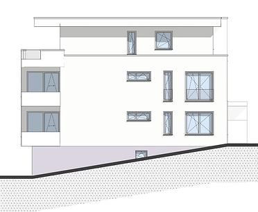 Bau-Art GmbH Witten Hamm Bau von 5 Eigentumswohnungen Bochum-Quereburg Nordansicht