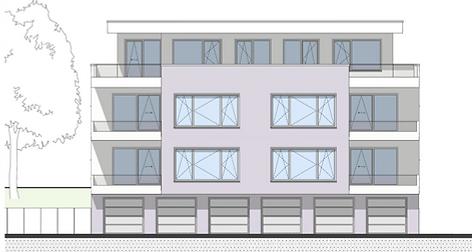 Bau-Art GmbH Witten Hamm bau von 5 Eigentumswohnungen Bochum-Quereburg Ostansicht