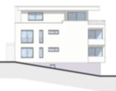 Bau-Art GmbH Witten Hamm Bau von 5 Eigentumswohnungen Bochum-Quereburg Südansicht