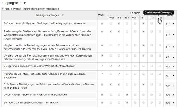 Prüfungshandlungen SER2015