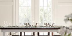FreshFeaturePhoto: Bride and Groom Table: Kansas City Wedding Barn