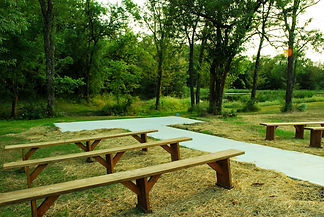 Outdoor wedding ceremony site near Lawrence Kansas