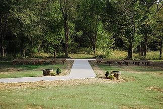 Outdoor wedding ceremony area at Kansas City wedding venue