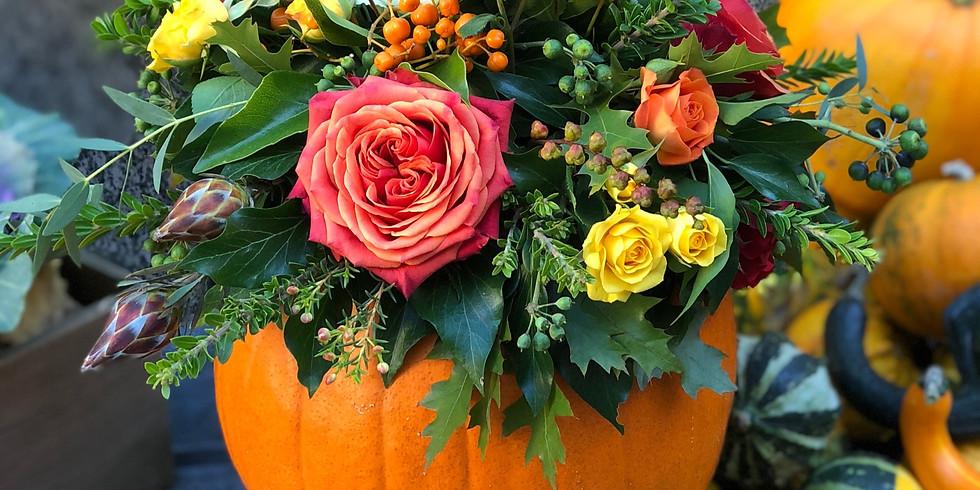 Oct 26th - Autumn Floral Pumpkin Workshop