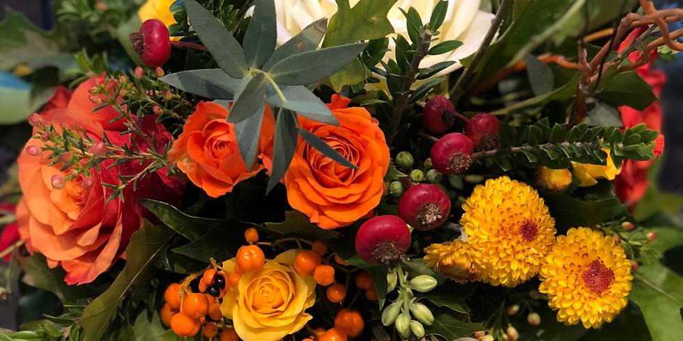 Oct 28th - Autumn Floral Pumpkin Workshop