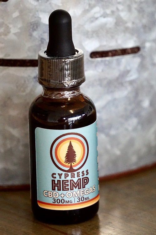 CYPRESS HEMP(CBD+ OMEGAS)- 300 mg/ 30ml