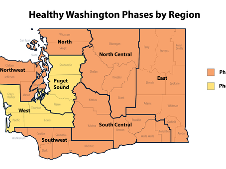 Inslee Announces Metric Changes to Healthy Washington — Roadmap to Recovery. Hello, Phase 2!