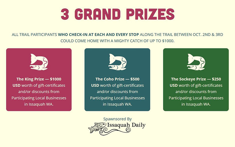 Prizes for Salmon Days Trail.JPG