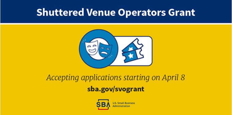 SBA to Accept Shuttered Venue Operators Grant Applications Starting April 8
